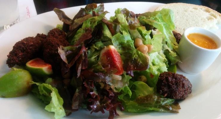 Falafel Feigen Salat (vegan)